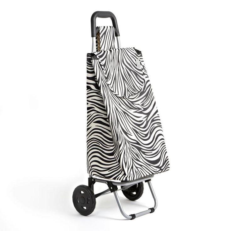 "Ksp Trek Shopping Trolley ""zebra"" 95 X 38 X 27 Cm Black/White   Kitchen Stuff Plus"