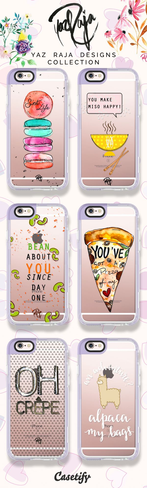 Take a look at these cute cases designed by Yaz Raja Designs now!  https://www.casetify.com/yazrajadesigns/collection | @casetify
