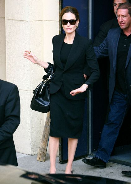 Angelina Jolie Leaving The Egyptian Theatre In Hollywood