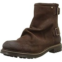 Base London Bullit - Botas biker para hombre, color marrón (greasy suede brown), talla 43
