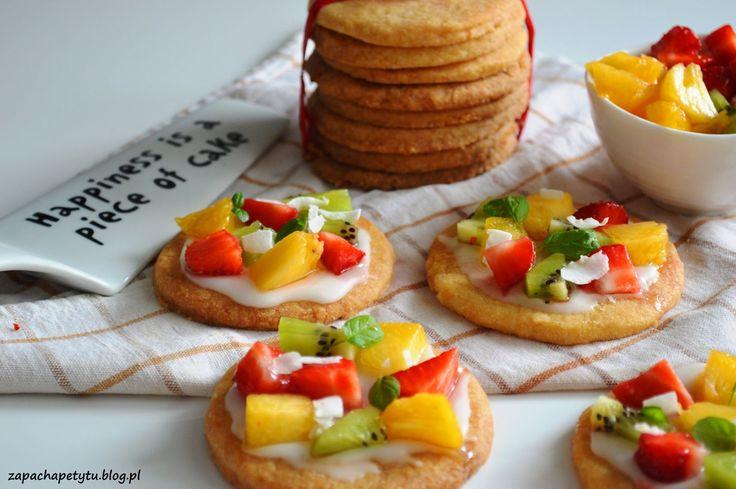 Sugar cookie fruit pizzas #zapachapetytu #cookies #pizza