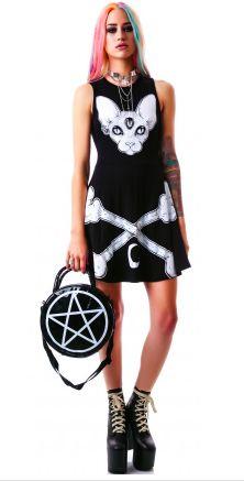 Third Eye Skater Dress, Pentagram Handbag