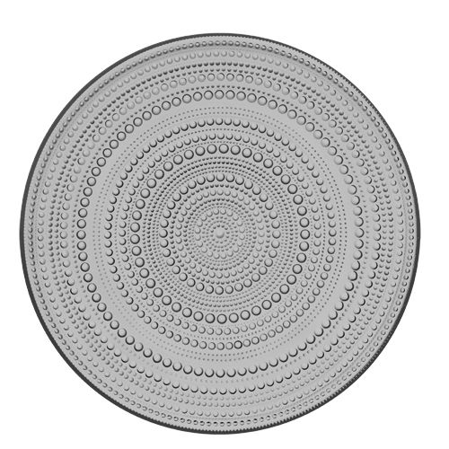 Add a touch of elegance at your next gathering with the iittala Kastehelmi Dewdrop Grey Serving Plate. This delicate colorway is an exceptional backdrop for showcasing hors d'oeuvres or culinary creati