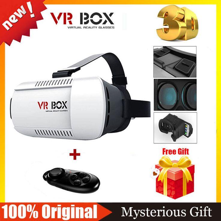 VR BOX 1.0 3.0 Version VR Google Cardboard  Virtual Reality Glasses Goggles VR Helmet + Bluetooth Wireless Remote Controller