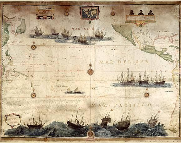 In 1622, Dutch cartographer and self-publisher Hessel Gerritsz produced this map of the Pacific Ocean. Gerritsz is considered the master Dutch cartographer of the 17th century. A few years earlier, he portrayed the top of what we know as Western Australia while surveying modern-day Indonesia