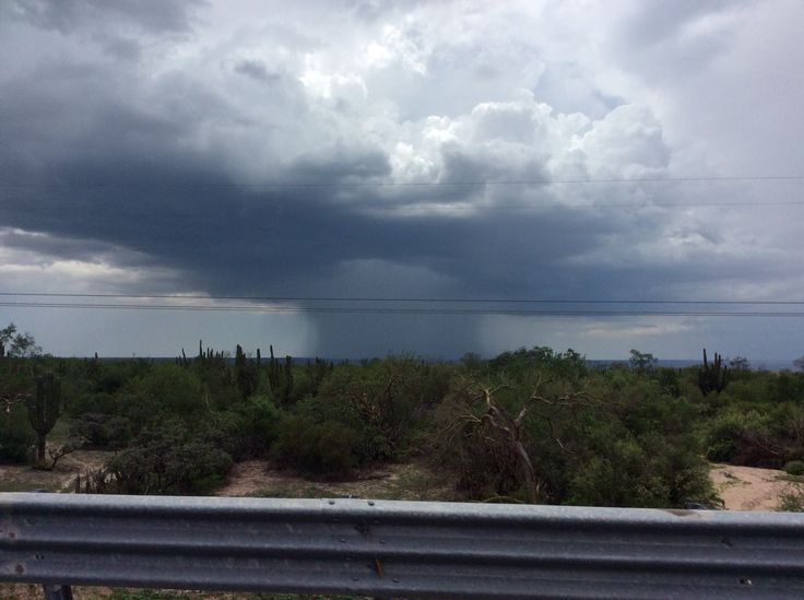 Rain storm just outside of La Paz, BCS Mexico