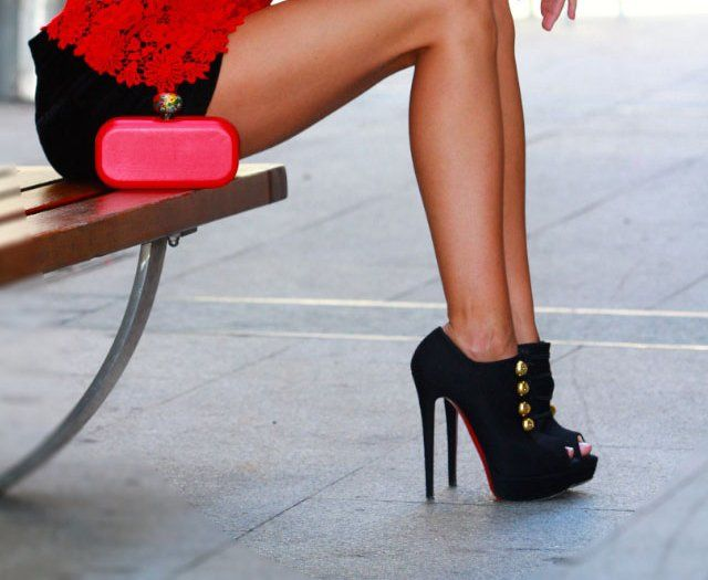 Button Booties by Christian Louboutin