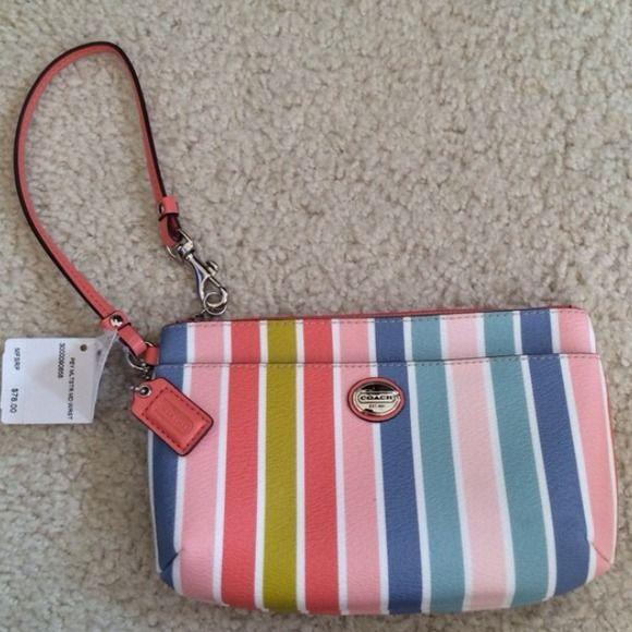 """Spotted while shopping on Poshmark: """"Authentic coach brand new wristlet""""! #poshmark #fashion #shopping #style #Coach #Clutches & Wallets"""