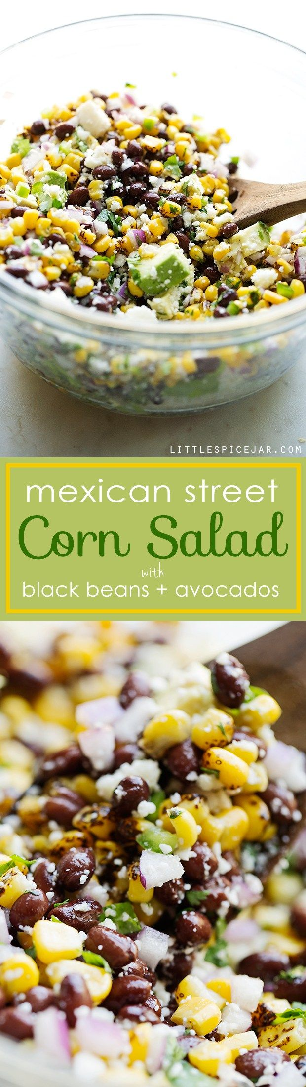 Mexican Street Corn Salad - The perfect summer corn salad with lots of fresh ingredients tossed in a light homemade dressing