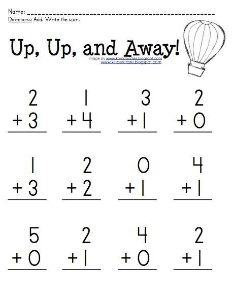89 best images about Kindergarten/ Addition on Pinterest | Fact ...