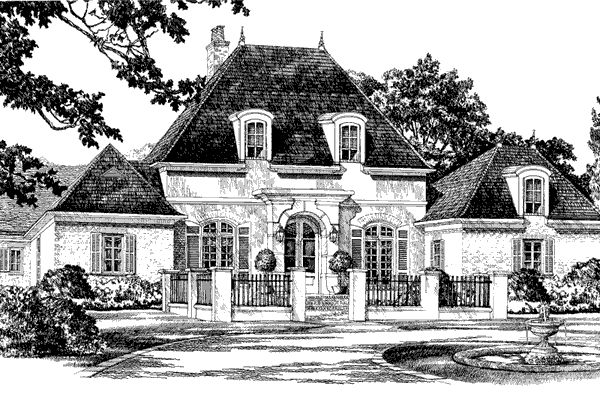 Henison way andy mcdonald design group southern living for Southern french country house plans