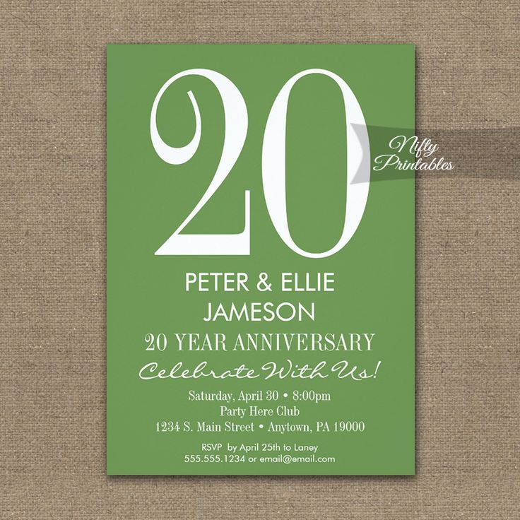 free printable0th wedding anniversary invitations%0A Anniversary Invitation Moss Green  u     White PRINTED