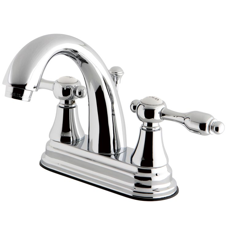 """Kingston Brass KS7611TAL 4"""" Centerset Lavatory Faucet with Brass Pop-Up, Chrome - Price: $159.95 & FREE Shipping over $99"""