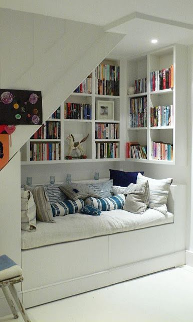 Want a part of my house where my kids or guests can just sit and relax and read books in the corner.