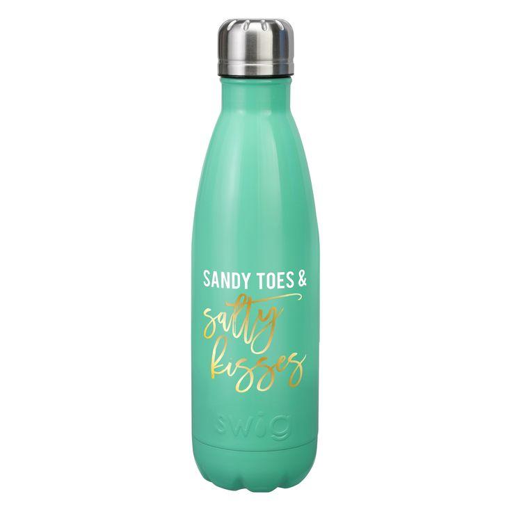 Swig 17oz Bottle - Sandy Toes & Salty Kisses
