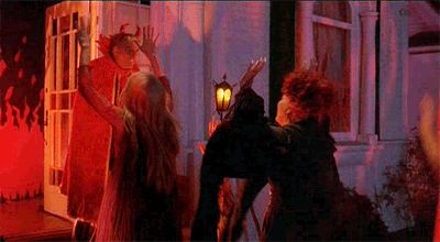 """When the witches think they've arrived at the devil's house.   27 Magical Times """"Hocus Pocus"""" Cast A Spell On You"""