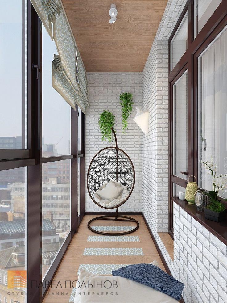 Фото: Дизайн лоджии - Двухуровневая квартира в неоклассическом стиле, ЖК «Жилой дом на Пионерской», 208 кв.м.
