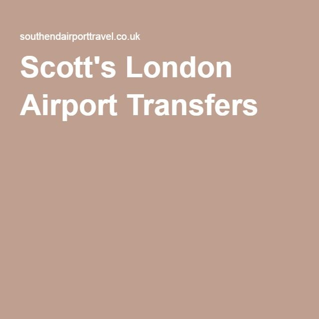 Scott's London Airport Transfers |