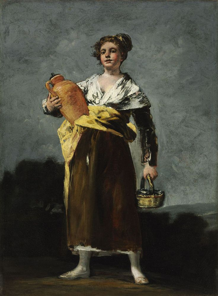 "Francisco de Goya: ""La aguadora"". Oil on canvas, 68 x 50,5 cm, 1808-1812. Museum of Fine Arts, Budapest, Hungary"