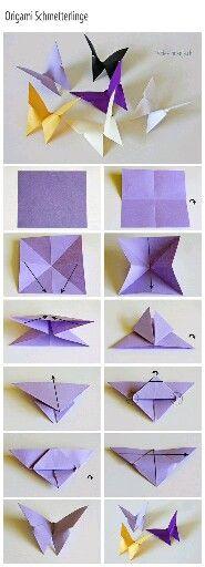 Бабочка оригами из бумаги