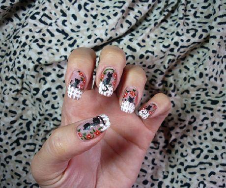 Дизайн ногтей. Мастер-класс: как нарисовать кошку на заборе на ногтях?   По вопросам сотрудничества и мастер-классов: anna1156@yandex.ru  .   Автор: Творческая Анна    Дизайн ногтей, нейл-арт, необычный рисунок, креативный маникюр, нейл-арт, дизайн ногтей, ногти, ноготки, nail art, nails, nail ideas, кошка на ногтях