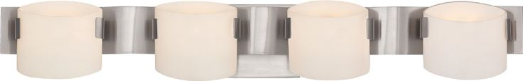 Quoizel PCEN8604BN Platinum Collection Exton Modern Brushed Nickel Xenon 4-Light Bathroom Sconce Lighting - QUO-PCEN8604BN