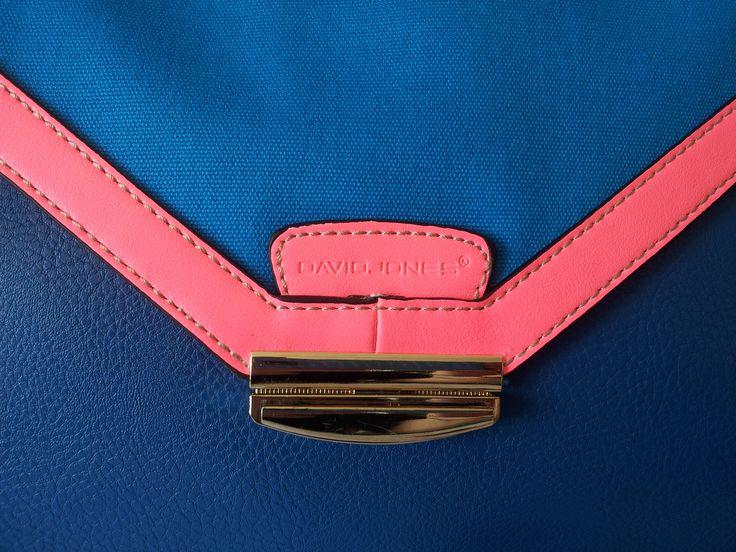 David Jones Clutch Bags / Blue / Neon Pink