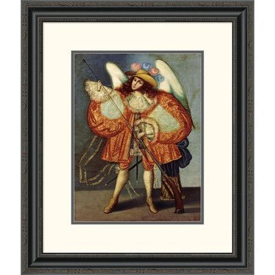 "Global Gallery 'Arcangel Con Arcabuz' Framed Painting Print Size: 26"" H x 22.07"" W x 1.5"" D"
