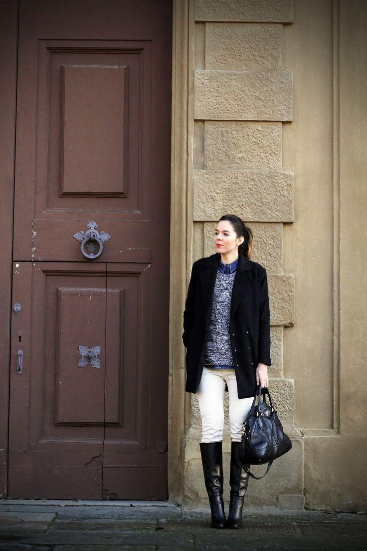 #fashion #fashionista Irene stivali alti di pelle nera