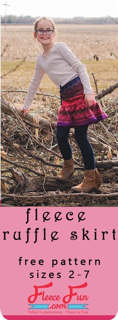Fleece Ruffle Skirt Tutorial