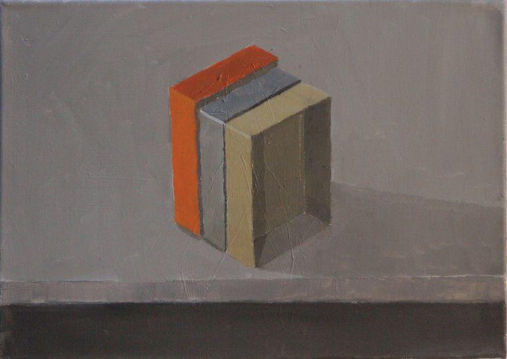 """Stuart McHarrie; Oil, 2012, Painting """"3 paintboxes"""""""