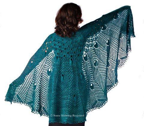 pretty peacock shawl