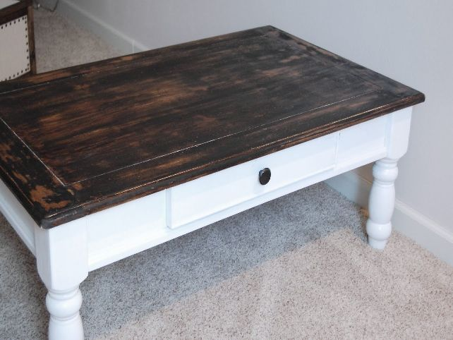 Best 25 Distressed wood coffee table ideas on Pinterest Weather