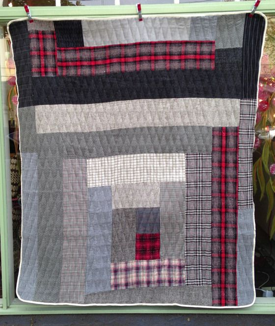 """Image of 'Wagga' style quilt 1. Cottage Industry. """"We are a small shop situated at 67 Gertrude Street, Fitzroy in Melbourne Australia. We make a great deal of the stock we sell but we also import things that we love from all over the world."""""""