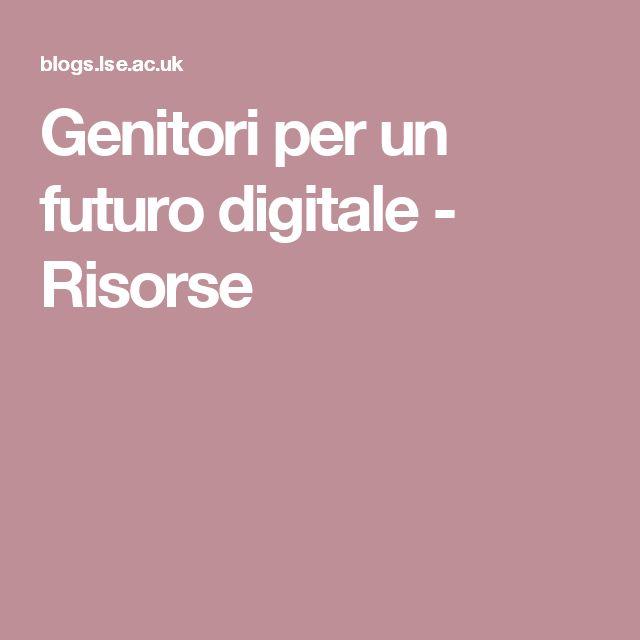 Genitori per un futuro digitale - Risorse