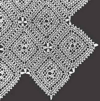 Vintage Pattern: Crocheted Bedspread Made of Crocheted Square Motifs