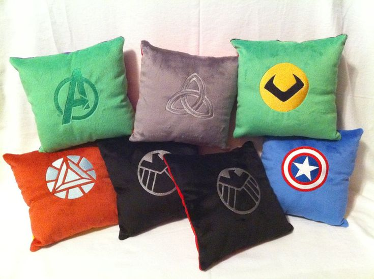 Avengers Assemble! ...into pillows! by *SpaceVoyager