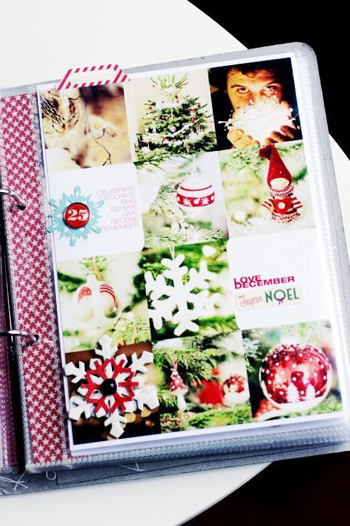 make a picture collage for every christmas with memories on the back...keep in binder and put out every year. :)
