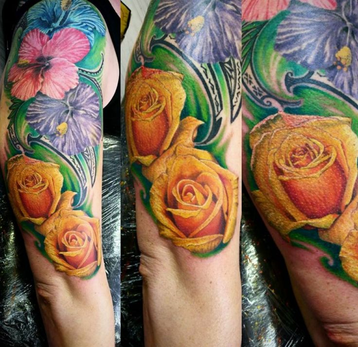 Tattoo Flowers, From Gene Martin, New Plymouth, New Zealand