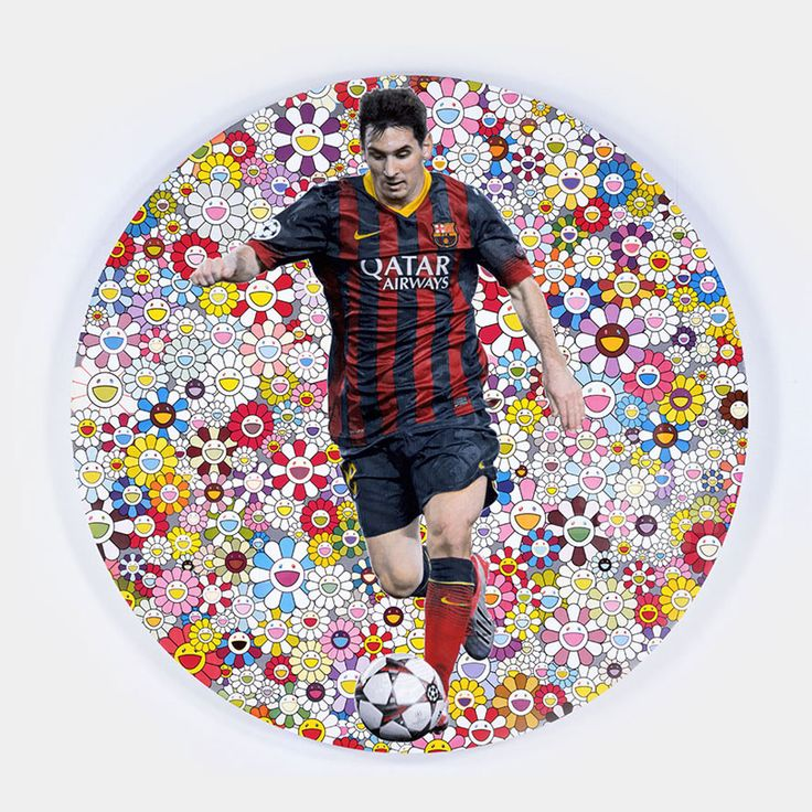 """""""Lionel Messi and a Universe of Flowers"""" by Takashi Murakami (2014)"""