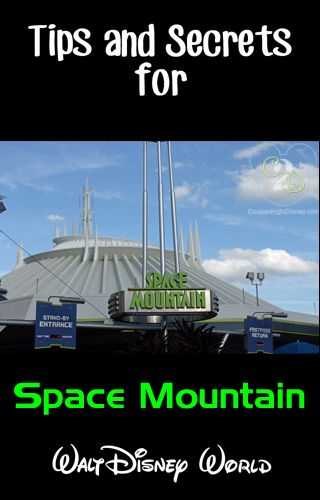 Tips and Secrets for Space Mountain at Walt Disney World. Pin now for your next Disney vacation!