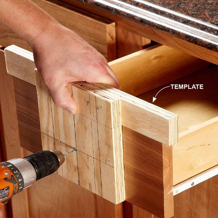 install kitchen cabinet hardware template 2