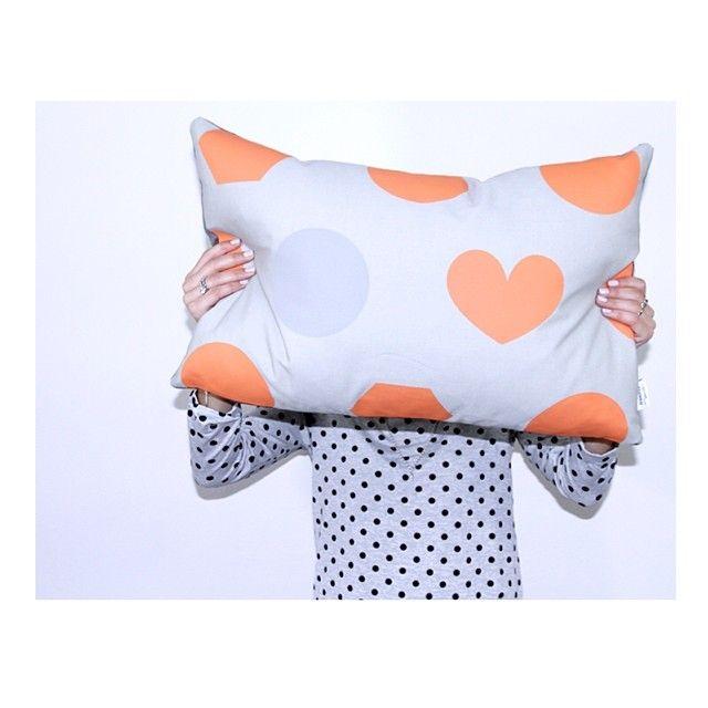 Jennifer + Smith   Orange Shapes   http://www.jenniferandsmith.com.au/oblong-cushions/orange-shapes #cushionselfie #jenniferandsmith