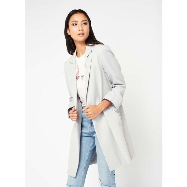 Miss Selfridge Grey Duster Coat (205 SAR) ❤ liked on Polyvore featuring outerwear, coats, grey, gray coats, miss selfridge coats, grey coat, miss selfridge and duster coat