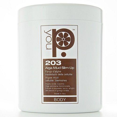 """ALGA MUD SLIM-UP è un vero e proprio concentrato di argille, alghe marine e fitoestratti, è pratico nell'applicazione, non cola ed è delicato sul microcircolo. Contrasta i gonfiori, favorisce la riduzione dei """"cuscinetti"""", rende la pelle elastica e straordinariamente levigata, riduce l'antiestetico aspetto della pelle a """"buccia d'arancia"""" e contribuisce al rimodellamento della silhouette. Indicato per tutti i tipi di cellulite e per l'adiposità localizzata."""