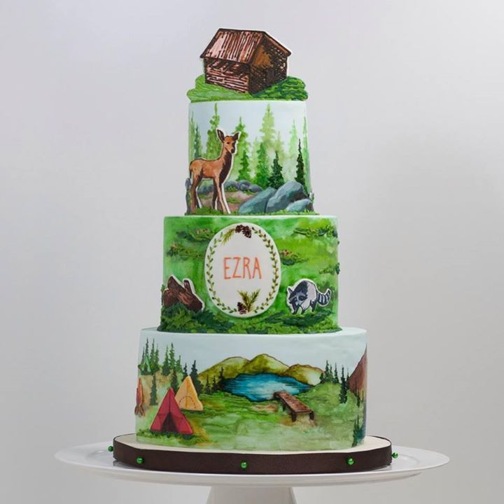 232 Best Camping Cakes Images On Pinterest Camping Cakes