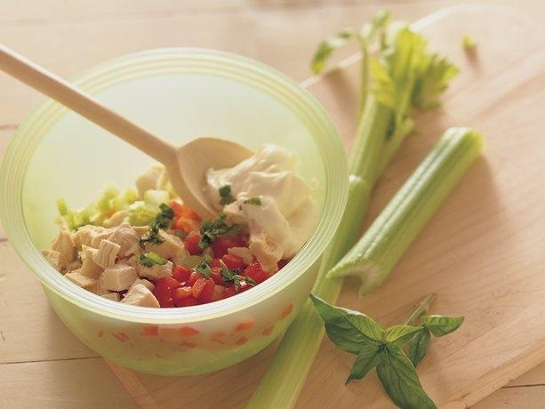 Basil Chicken SaladRecipe Yummy, Basil Chicken, Chicken Salads, Salad Yummy, Chicken Salad Recipe, Homemade Chicken Salad, 10 Minute, Tomatoes Basil, Basil Cooking