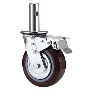"""Descripción:  Nombre: Andamios ruedas de poliuretano,andamio ruedas  Material: hierro, PU  Tamaño disponible: 5 """"x 50 mm, 6"""" x 8 """"x 50 mm 50 mm;  Capacidad de carga: 360kg-450kg  Tipo opcional: rígidas, giratorio  Tamaño de tubo de montaje: personalizar  Ampliaente utilizado como andamios Ruedas Ruedas Rack, Rack Caster Wheel, podemos hacer el tallo tamaño según tamaño del cliente www.casterwheelsco.com ; sales@casterwheelsco.com"""