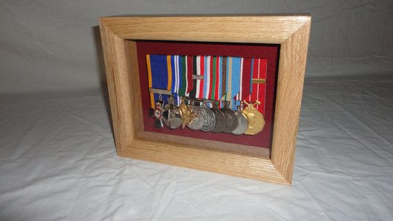 Medals Display Case Shadow Box Table Top Display Case