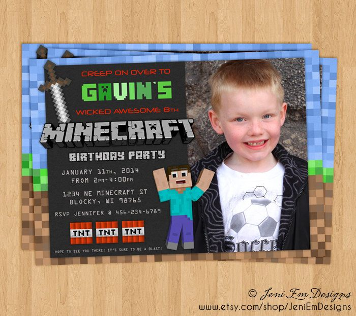 Minecraft Party Invitations is luxury invitation layout